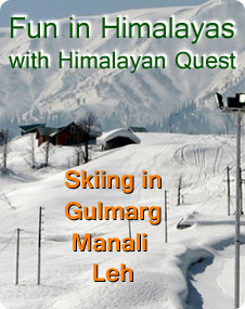 skiing in himalayas